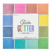 """Glam Glitter Solids Paper Pack - 12"""" x 12"""""""