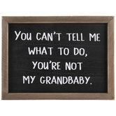 You're Not My Grandbaby Wood Decor