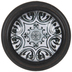 Black & White Tile Metal Knob
