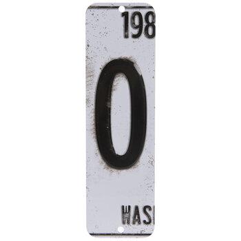 License Plate Number Metal Sign