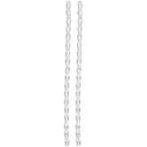 Crystal AB Oval Glass Bead Strands