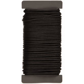Black Coated Cotton Cord