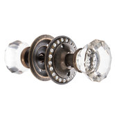 Faceted Knob Pull With Rhinestones