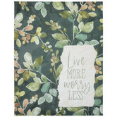 Live More Worry Less Leaves Canvas Wall Decor