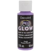 Purple Glow In The Dark Americana Acrylic Paint