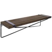 Brown Geometric Metal Wall Shelf