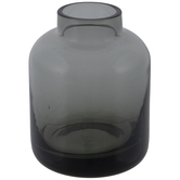Gray Cylinder Glass Vase