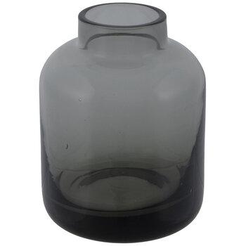 Gray Cylinder Glass Vase