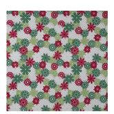 Red, Green & White Snowflakes Gift Wrap