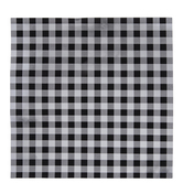 "Black & Silver Foil Buffalo Check Scrapbook Paper - 12"" x 12"""