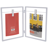 "White Metal Clip Collage Frame - 4"" x 6"""