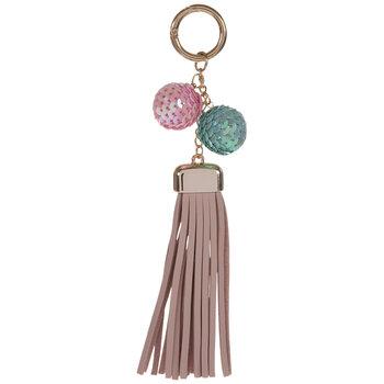 Tassel & Sequin Balls Keychain