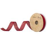 """Red Metallic Ribbon - 5/8"""""""