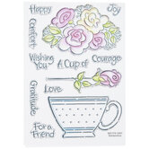 Pop Rose & Teacup Clear Stamps