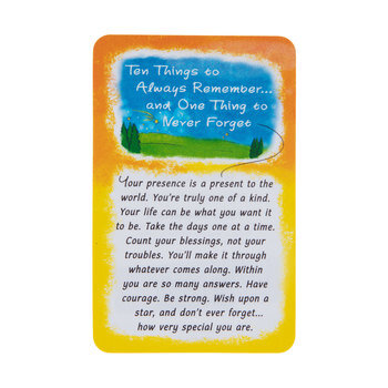 Ten Things To Remember Wallet Card