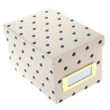 Black On Pink Polka Dot Mini Storage Box