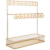 Gold Metal Jewelry Stand
