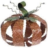 Glitter & Scroll Embossed Metal Pumpkin