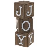 Joy Stacked Block Wood Decor