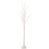 White LED Birch Tree