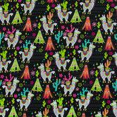 Glamping Llama Apparel Fabric