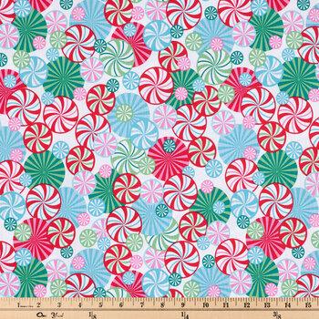 Multi-Color Peppermint Swirl Cotton Fabric