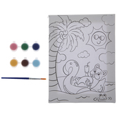 Tropical Dog Canvas Painting Craft Kit