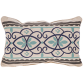 Embroidered Flourish Pillow Cover