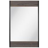 Rustic Gray Wood Wall Mirror