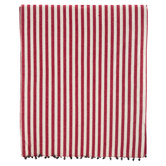 Red & White Ticking Striped Table Runner