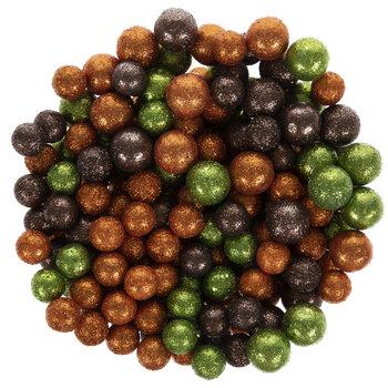 Brown, Orange & Green Glitter Ball Filler