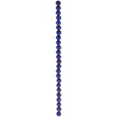 Lapis Dyed Jade Round Bead Strand