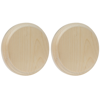 """Round Wood Plaques - 5"""""""