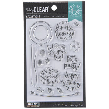 Let's Party Balloon Clear Stamps