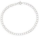 "Sterling Silver Chain Bracelet - 7 1/2"""