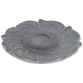 Gray Soapstone Flower Incense Holder
