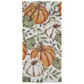 Orange Pumpkin & Leaves Kitchen Towel