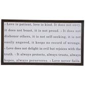 Love Never Fails Wood Wall Decor