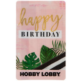 Happy Birthday Palm Gift Card