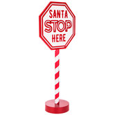 Santa Stop Here Light Up Decor
