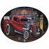 Hot Rod Garage Oval Metal Sign