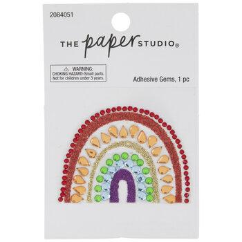 Rainbow Glitter & Rhinestone Sticker