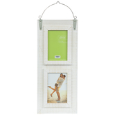 White Distressed Wood Collage Wall Frame