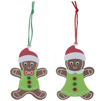 Gingerbread Ornaments Foam Craft Kit