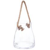 Glass Jar With Hemp Rope