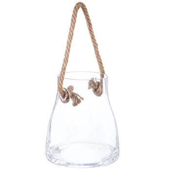 Glass Jar With Hemp Rope - Large