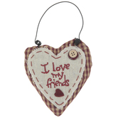 I Love My Friends Heart Ornament