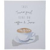 Coffee & Jesus Wood Decor