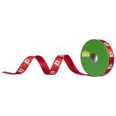 """Reindeer Red Satin Single-Face Ribbon - 5/8"""""""