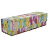 Rainbow Watercolor Rectangle Box